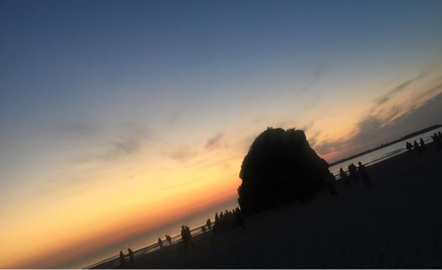 弁天島と夕日